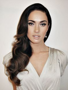 Megan Fox Inspired Hair, Indian Summer, Darkest Brown or Black Ombre Hair Extensions, Clip In Human Hair Extensions, (7) Pieces, 16""
