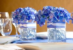 Flowers, Reception, Centerpiece, Blue, So chic events