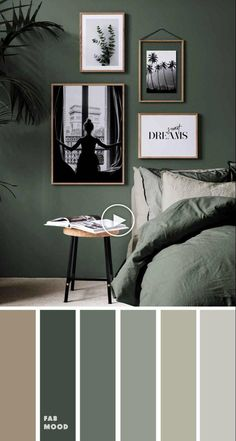 15 earth tone bedroom ideas - green bedroom , earth tone bedroom bedroom color ideas, color schemes, color combos , home color decor ideas Bedroom Green bedroom - 15 Earth Tone Colors For Bedroom { Shades of Green } Home Decor Bedroom, Bedroom Shades, Colorful Decor, Small Bedroom Inspiration, Bedroom Interior, Earth Tone Bedroom, House Colors, Bedroom Green, Bedroom Colors