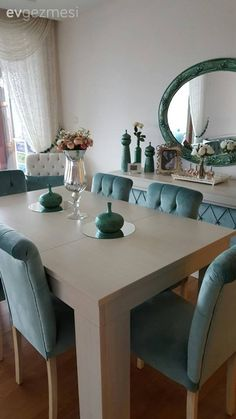 Leyla lady's floor change with a new look salon . - Decoration For Home Elegant Dining Room, Luxury Dining Room, Dining Room Design, Pastel Living Room, Paint Colors For Living Room, Home Decor Furniture, Living Room Furniture, Living Room Decor, Upcycled Home Decor