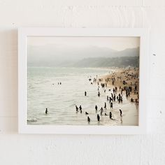 Interior design wall art inspiration. Seaside Contrast limited edition art print by Minted Artist  Emmy Hagen.