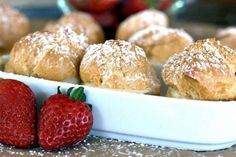 This easy Bavarian Cream Puff recipe is a keeper. The classic cream puffs turn out every time, and are filled with an easy Bavarian cream knockoff recipe. German Desserts, Just Desserts, Dessert Recipes, Cake Recipes, Cream Filling Recipe, Cream Puff Recipe, Profiteroles, Recipes Using Puff Pastry, Food Network Recipes