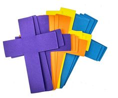 Creative Hands 12-Piece Foam Cross Shaped Stack for Craft Supplies