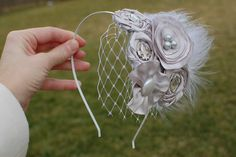 Headband with French Netting