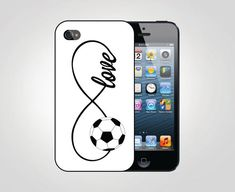 Infinity Love Soccer Ball Sports iPhone 5 Case, iPhone 4 Case, iPhone 4S Case