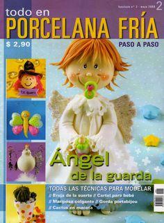 Como hacer un angel en porcelana fria
