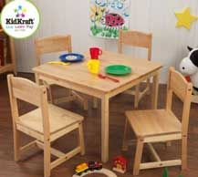 Farmhouse Table and 4 Chair Set by KidKraft
