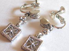 Napier Drop Dangle Silver Tone Earrings by FloridaPickinAndArt