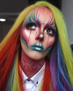 (notitle) - halloween makeup - Halloween MakeUp and Kostume Extreme Makeup, Scary Makeup, Clown Makeup, Sfx Makeup, Costume Makeup, Makeup Looks, Edit Makeup, Halloween Makeup Artist, Halloween Face Makeup