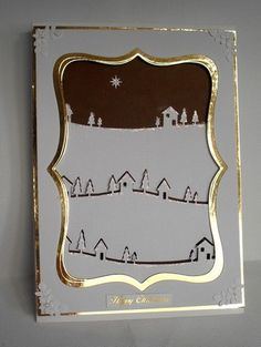 CCC12 September - Snow Scene II by DiHere - Cards and Paper Crafts at Splitcoaststampers