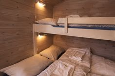 Hytter Kos, Bunk Beds, Cabins, Beach, Furniture, Home Decor, Decoration Home, Double Bunk Beds, The Beach