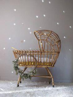Boho Nursery, Nursery Room, Rattan Furniture, Baby Bedroom, Nursery Inspiration, Baby Cribs, Decoration, Bassinet, Kids Room