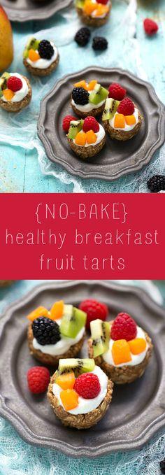 Easy No-Bake Healthy Breakfast Fruit Tarts http://www.chelseasmessyapron.com/no-bake-healthy-breakfast-fruit-tarts/