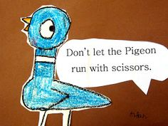 Many of my art lessons are inspired by children's picture books and Mo Willems is one of my favorite current children's authors! I rememb. First Grade Art, 1st Grade Writing, First Grade Rules, Second Grade, Mo Willems, Library Lessons, Art Lessons, Library Rules, Pigeon Books