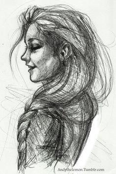 Andythelemon: OK so I worked into it a little more and scanned it :BI like drawing faces haha BTN: Katniss!