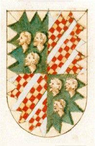 """Stemma Malatesta, da """"Insegne di varii prencipi et case illustri d'Italia e altre provincie"""", Biblioteca Estense, Modena."""