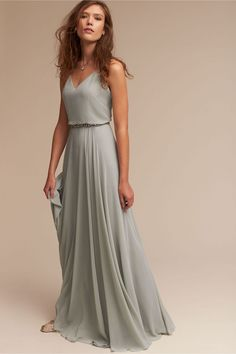 Jenny Yoo Inesse Dress - Gorgeous gray bridesmaid dress – bhldn bridesmaid dress – neutral bridesmaid inspo {bhldn} Source by sinaalicia - Wedding Bridesmaid Dresses, Prom Dresses, Long Dresses, Bridemaid Dresses Long, Bridesmaid Dresses Sage Green, Bridesmaid Outfit, Dress For Wedding Guest, Bridesmaid Ideas, Evening Dresses