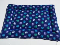 Dog Crate Pad, Cat Mat, Fleece Dog Bed, Cat Pad, Kennel Mat, Chair Cushion, Dog Bone Fabric, Kennel Pad, Puppy Bedding, Small Pet Bed by ComfyPetPads on Etsy