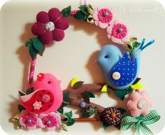 Do it yourself also known as DIY is the method of building modifying or repairing something without the aid of experts or professionals Baby Crafts, Felt Crafts, Diy And Crafts, Arts And Crafts, Felt Diy, Handmade Felt, Felted Wool Crafts, Felt Wreath, Felt Embroidery