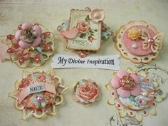 Romantic Peachy Pink Scrapbook by mydivineinspiration on Etsy