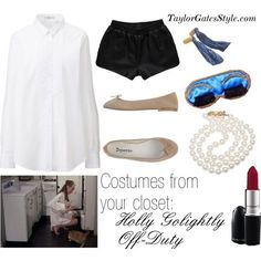 A fresher take on the (kind of overdone) Breakfast at Tiffany's LBD Holly Golightly costumes using what you already have at home - Costumes from your closet: Holly Golightly Off-Duty   TaylorGatesStyle.com