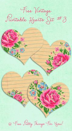 Pretty printable hearts. .use for labels, scrapbooking, tags and more!