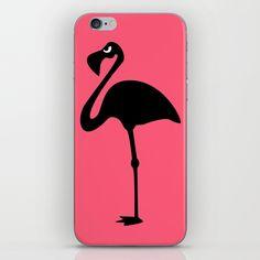 Angry Animals: Flamingo iPhone Skin #pink #flamingo #iphoneskin #iphone #phoneskin