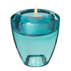 Leonardo Flick Flack Tealight Holder - Turquoise ($15) ❤ liked on Polyvore featuring home, home decor, candles & candleholders, decor, candles, filler, turquoise, turquoise candles, turquoise taper candles and colored tea lights