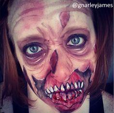 Zombie #facepaint #bodyart #makeupbymarley #zombie
