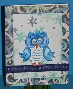 This owl is so cute and what Roni did with the stamp is fabulous like usual. http://inkstainswithroni.blogspot.com/2015/12/ice-ice-baby.html