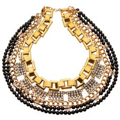 #SPRINGSALE Luxe Gold and Black Layered Necklace #TJDesigns