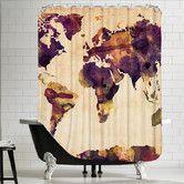Found it at Wayfair - World Map 1 Shower Curtain