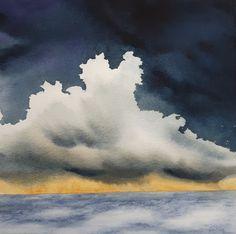 'Ocean Shower Cloud' - watercolour painting 2017