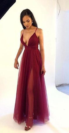 Deep V-neck Sexy Long Prom Dress with Slit,Fashion Dance Dress,Winter – PromDr. - - Deep V-neck Sexy Long Prom Dress with Slit,Fashion Dance Dress,Winter – PromDressForGirl Source by promdressforgirl Elegant Dresses For Women, Prom Dresses For Teens, Fabulous Dresses, Summer Dresses, Beautiful Outfits, Dance Dresses, Sexy Dresses, Long Dresses, Ball Dresses
