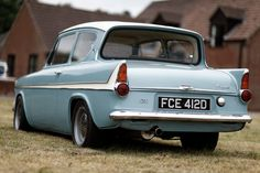 Ford Anglia I got stuck in one of these when I worked for a garage. Three people had to assist me so I could get out :-)