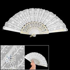 Amico Sequin Flower Detailings White Nylon Hand Folding Fan by Amico, http://www.amazon.com/dp/B007Q947M0/ref=cm_sw_r_pi_dp_SToSrb1XW49HJ