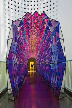 One-Way Colour Tunnel by Olafur Eliasson One-Way Colour Tunnel . - emote - One-Way Colour Tunnel by Olafur Eliasson One-Way Colour Tunnel . One-Way Colour Tunnel by Olafur Eliasson One-Way Colour Tunnel by Olafur Eliasson Architecture Design, Amazing Architecture, Geometry Architecture, Installation Architecture, Origami Architecture, Building Architecture, Instalation Art, Olafur Eliasson, Public Art