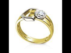 טבעת יהלום בעיצוב חדשני ומודרני לטבעת אירוסין עם זהב לבן וזהוב