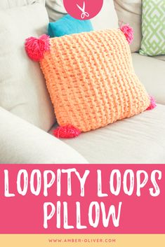 Make a Loopity Loops pillow with no needles, no hooks – just hands! A super easy… Make a Loopity Loops pillow with no needles, no hooks – just hands! A super easy way to knit! This project is sponsored by JOANN! Diy Projects Cans, Yarn Projects, Knitting Projects, Sewing Projects, Knitting Tutorials, Photo Projects, Crochet Projects, Sewing Crafts, Yarn Crafts
