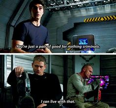 """""""You're just a pair of good-for-nothing criminals"""" - Ray, Leonard and Mick #LegendsOfTomorrow"""