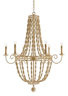 Arteriors Louis Wood Chandelier @LaylaGrayce #lighting #light
