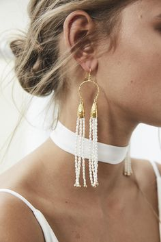 Designed for the effortlessly chic, classic beauty, the Salita Earrings from our Blanc Collection, are the latest collaboration from our founder, Megan Ziems and designer Salita Matthews.