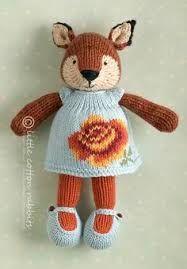 Little Cotton Rabbits fox girl rose dress