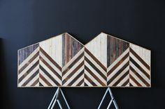 Headdboard-upcycled reclaimed wood:  brooklyn to west: headboard