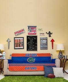 This Florida Gators Reversible Sofa Protector is perfect! Ohio State Football, Ohio State Buckeyes, Auburn Tigers, Fla Gators, Sofa Protector, Chicago Bears, Love Seat, Furniture, Buckeye Nut