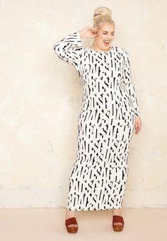 Alphabet Bodycon Dress £69.00  Plus Size Fashion ♥ | One One Three | Sizes 18-26