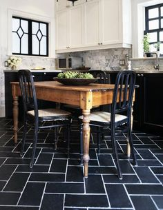 You can get 12x12-inch tiles so cheap at home improvement stores - even stone tiles run as low as a couple of dollars per square foot. But limiting yourself to a 12x12 grid can be a bit, well, boring. Try this trick of the trade: Cut the tile in half. This gives you a 1:2 proportion of 6x12-inch tiles. Perfect for running bond (brick) pattern or even fancy herringbone as shown.
