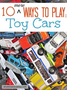 10 MORE Ways to Play with Toy Cars from What Do We Do All Day?