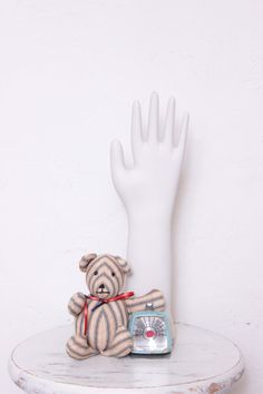 Vintage Porcelain Glove Hand Mold For Displaying by thejunkhaus