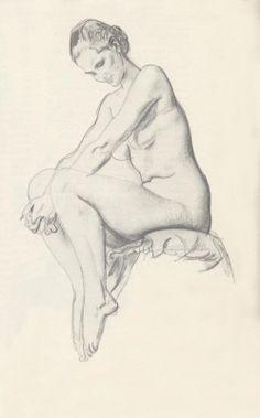 drawing by illustrator Robert Fawcett